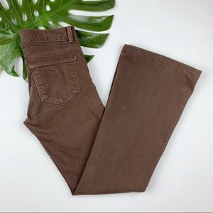 J Brand Love Story Jeans Stretch Flare Brown 26